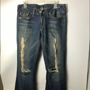 true religion women's distressed jeans size 30